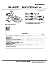 Service Manual Sharp MD-MS702H