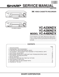 Manual de servicio Sharp VC-A480NZ/X