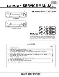 Manuale di servizio Sharp VC-A480NZ/X