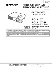 Service Manual Sharp PG-A10X-SL
