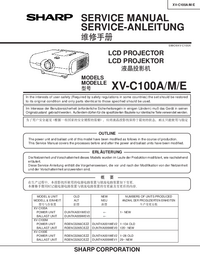Service Manual Sharp XV-C100E