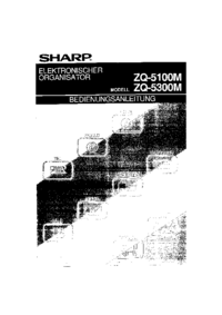 User Manual Sharp ZQ-5100M