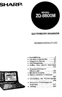 Instrukcja obsługi Sharp ZQ-8600M
