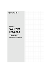 User Manual Sharp UX-A760