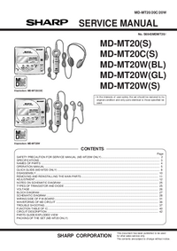 Manual de servicio Sharp MD-MT20W(S)
