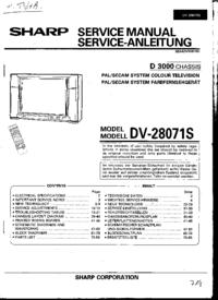 Service Manual Sharp DV-28071S