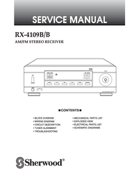 Manual de servicio Sherwood RX-4109B/B