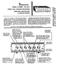 Servizio e manuale utente Sherwood S-5500II