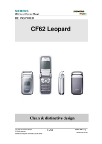 Service Manual Siemens CF62 Leopard