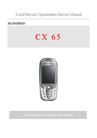 Service Manual Siemens CX 65
