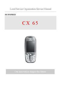 Servicehandboek Siemens CX 65