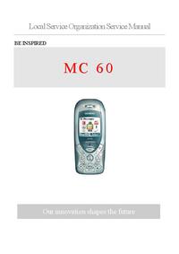 manuel de réparation Siemens MC 60