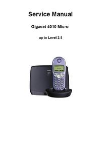 Instrukcja serwisowa Siemens Gigaset 4010 Micro