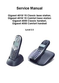Service Manual Siemens Gigaset 4015 Classic base station