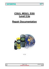 Руководство по техническому обслуживанию Siemens M35(i)