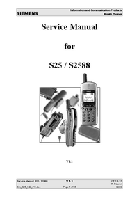 Manual de serviço Siemens S25