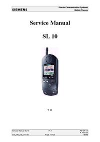 Service Manual Siemens SL 10