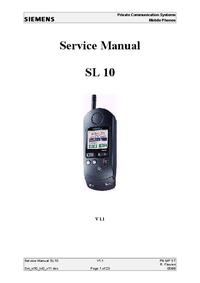 manuel de réparation Siemens SL 10