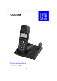 Manuale d'uso Siemens Gigaset 3010 Comfort