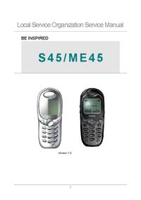 Serviceanleitung Siemens ME45