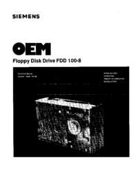 User Manual Siemens FDD 100-8