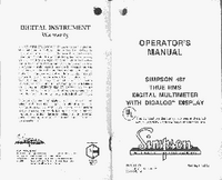Manual del usuario Simpson 467