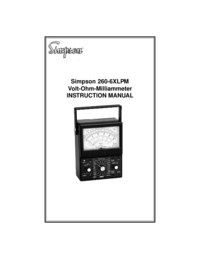 User Manual Simpson 260-6XLPM
