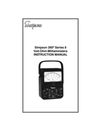 Manual de servicio Simpson 260 Series 8