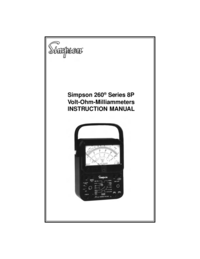 Bedienungsanleitung Simpson 260 Series 8P