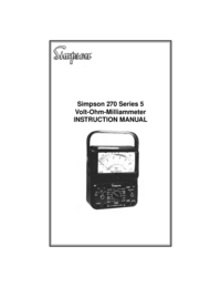 Manual del usuario Simpson 270 Series 5