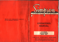 Serwis i User Manual Simpson 383A