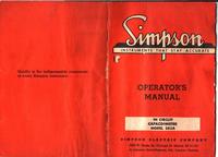Service et Manuel de l'utilisateur Simpson 383A
