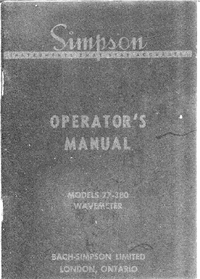 Servicio y Manual del usuario Simpson 77-380