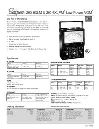 Datasheet Simpson 260-6XLM