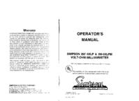 Servicio y Manual del usuario Simpson 260-6XLP