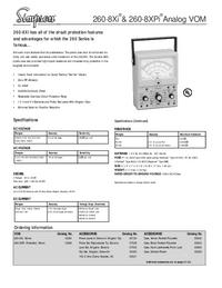 Dane techniczne Simpson 260-8XPi