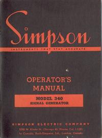 Servizio e manuale utente Simpson 340