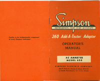 Service and User Manual Simpson 653