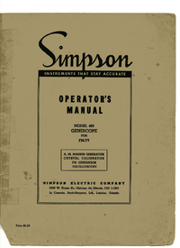 Servicio y Manual del usuario Simpson 480
