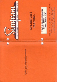 Manual del usuario Simpson 260-4