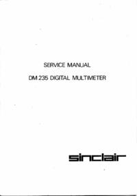Manual de servicio Sinclair DM235