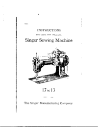 Manual del usuario Singer 17w13