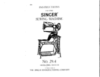 Manual del usuario Singer 29-4