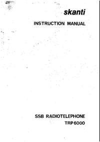Service-en gebruikershandleiding Skanti TRP6000