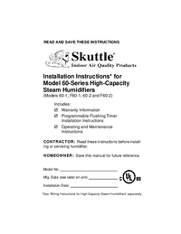 Serwis i User Manual Skuttle 60-2