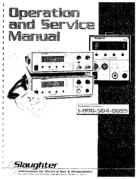 Service and User Manual Slaughter 103
