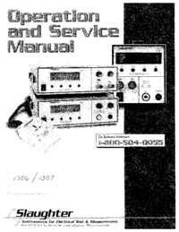 Service and User Manual Slaughter 1307