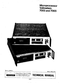 Bedienungsanleitung mit Schaltplan Solartron 7055
