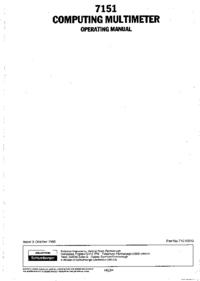 User Manual Solartron 7151