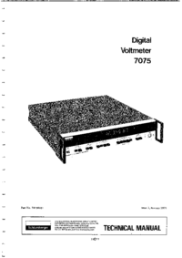Service and User Manual Solartron 7075